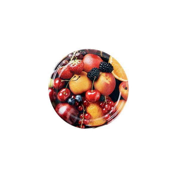 Víčko Twist na zavařovací sklenice 10ks, 66mm, motiv ovoce
