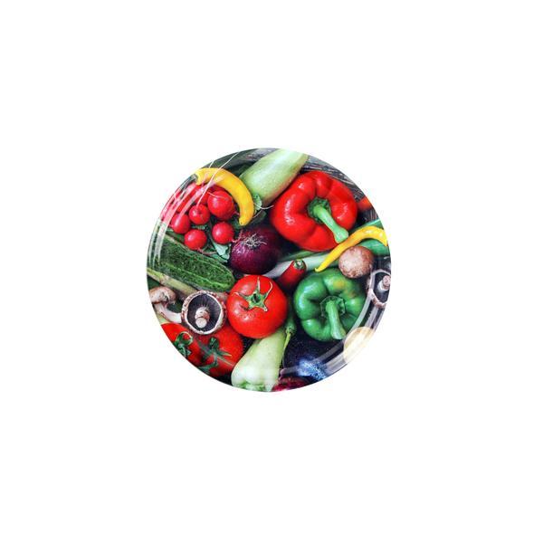Víčko na zavařovací sklenice 10ks, 66mm, motiv zelenina