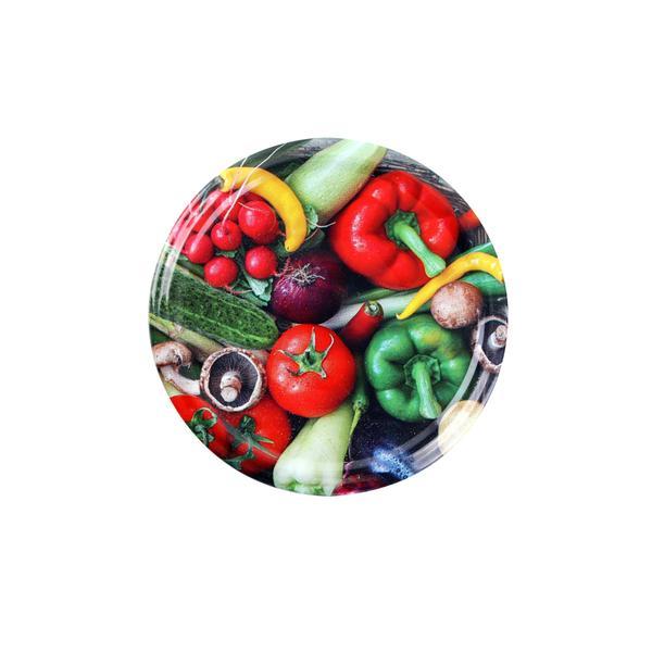Víčko na zavařovací sklenice 10ks, 82mm, motiv zelenina