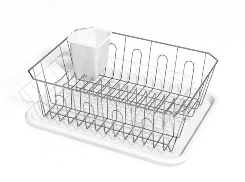 Odkapávač na nádobí Toro - chrom, plast