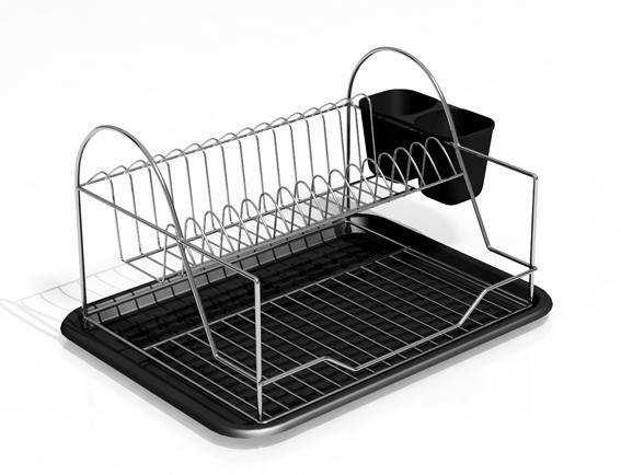 Odkapávač na nádobí - chrom, plast