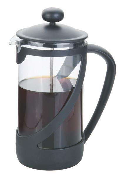 Konvice na kávu 1 l s filtračním pístem a plast. víčkem
