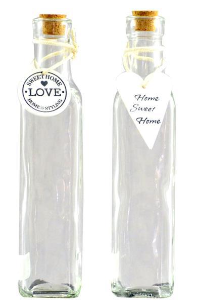 Láhev s korkovým uzávěrem, sklo