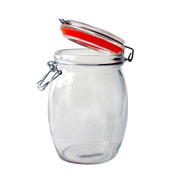 Dóza sklo, patentní uzávěr, 740 ml
