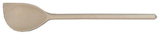 Vařečka oválná s rohem 35 cm, dřevo