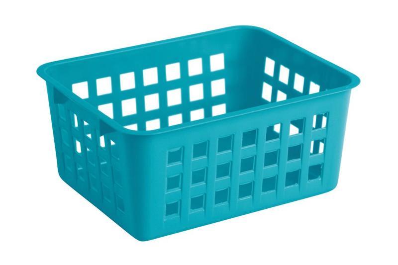Košík mini, plast, modrý