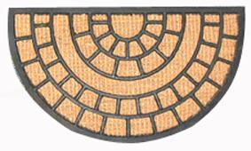 Rohožka půlkruh kokos a guma, 40 x 70 cm