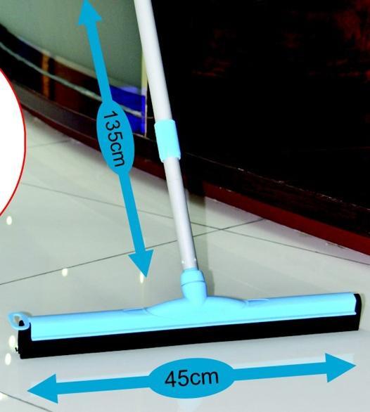 Stěrka na podlahu s gumou a teleskopickou tyčí, 135 cm