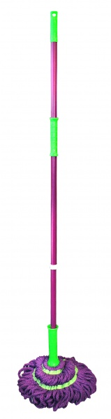 Mop Twist, mikrovlákno, zelená/fialová