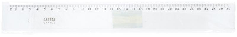 Pravítko průhledné, 30 cm, plast
