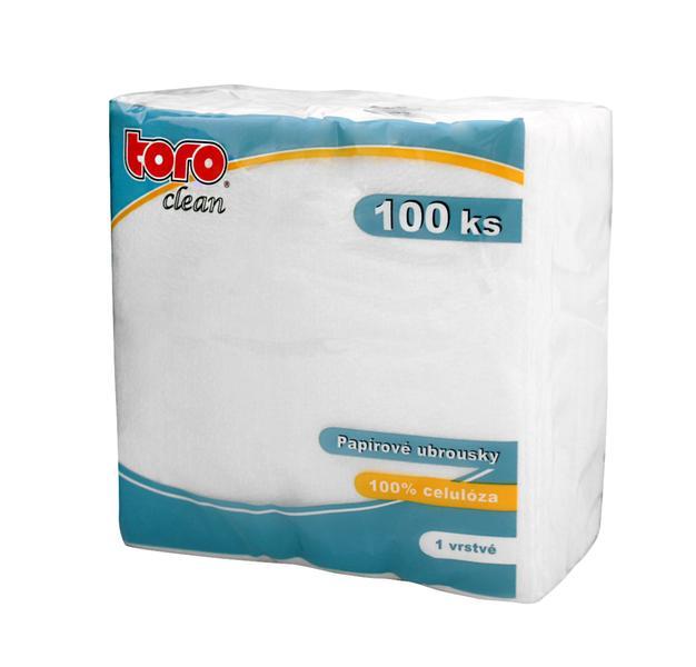Ubrousky 1-vrstvé Toro, 100 ks