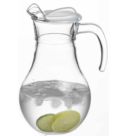 Džbán Bistro 1,8 l, sklo  s plastovým víčkem
