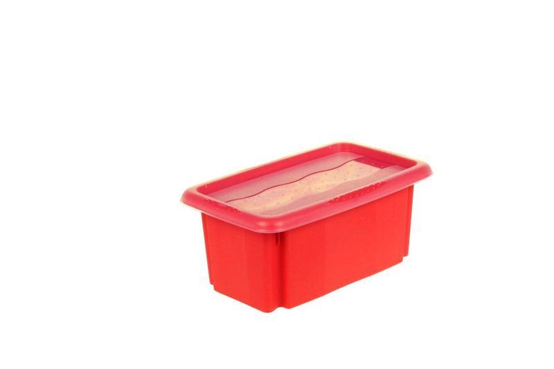 Box úložný Stack&Go s víkem 7 l, červená