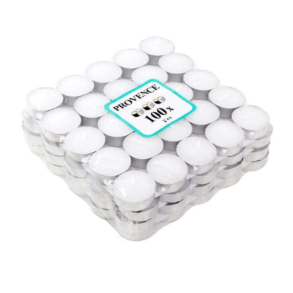 Čajová svíčka 100 ks bílá