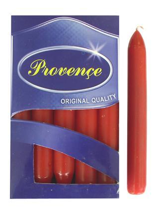 Svíčka bistro 10 ks světle červená,  2 x 17 cm