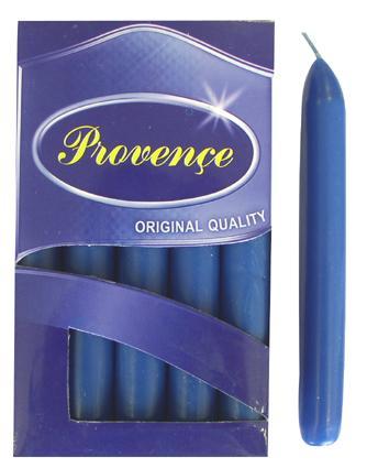 Svíčka bistro 10 ks tmavě modrá,  2 x 17 cm
