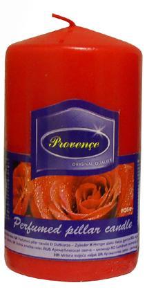 Svíčka válec, 6 x 11,1 cm, vůně růže