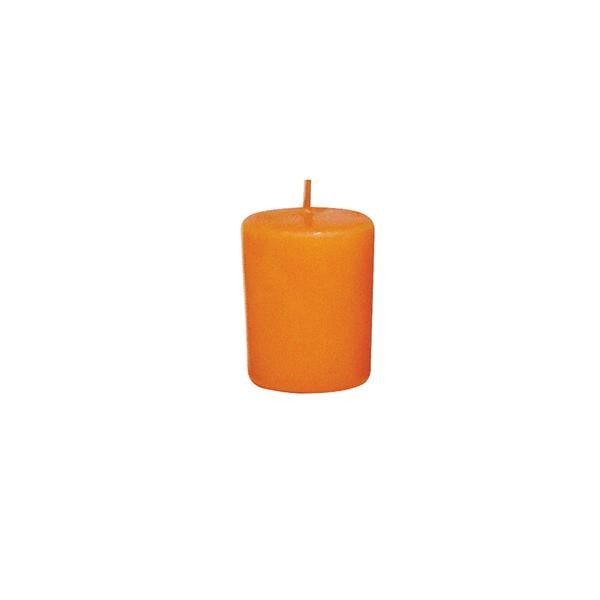 Svíčka s vůní pomeranče,  4 x 4, 9 cm