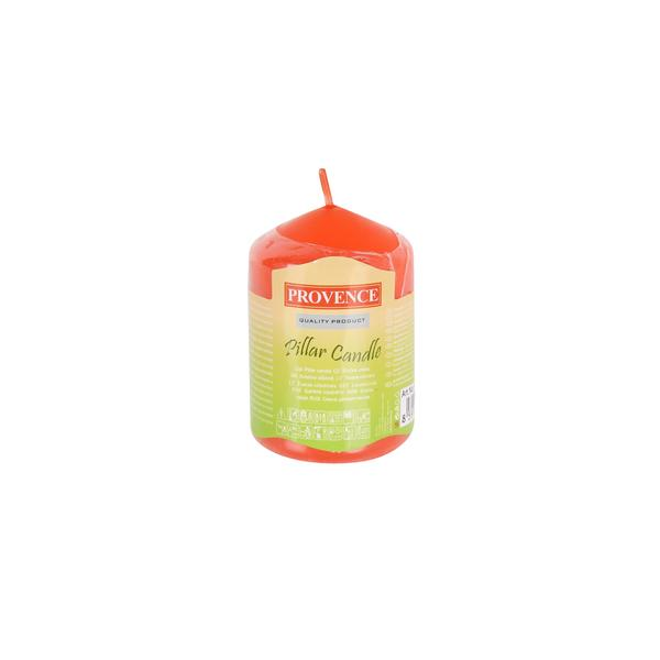 37 ORANGE PILLAR CANDLE
