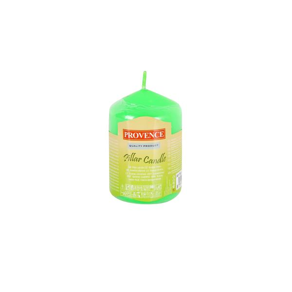 74 APPLE GREEN PILLAR CANDLE