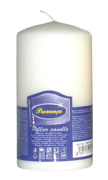Svíčka parafín válec bílá,  6, 3 x 12, 5 cm