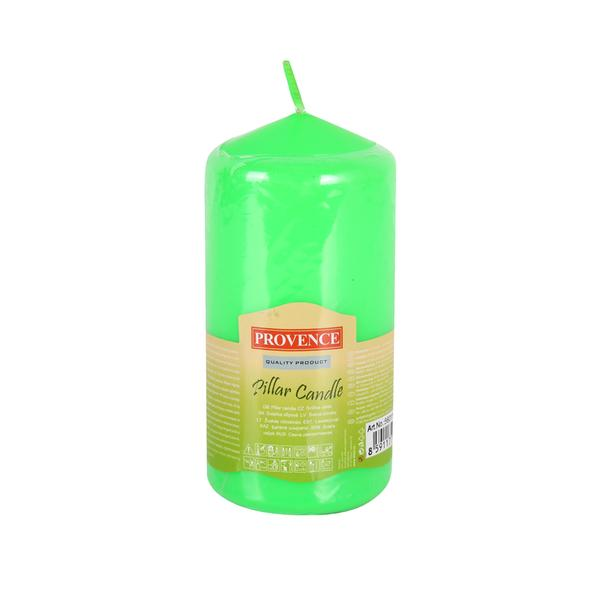 74 APPLE GREEN PILLAR CANDLE 65X125MM
