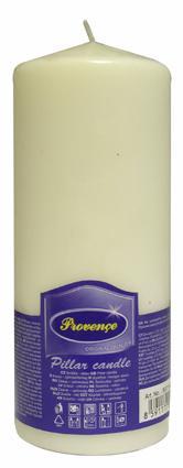 Svíčka parafín válec bílá,  6, 3 x 16 cm