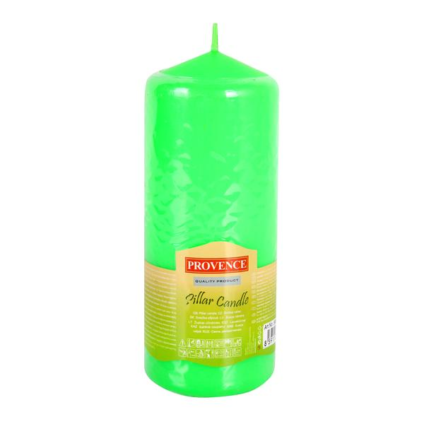 74 APPLE GREEN PILLAR CANDLE 65X160MM