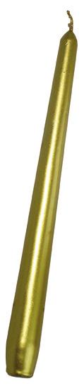 Svíčka kónická zlatá, 24,5 cm