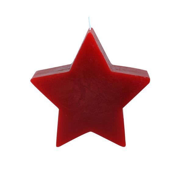 Svíčka hvězda červená