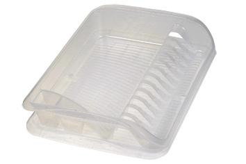 Odkapávač na nádobí, malý, plast, transparentní