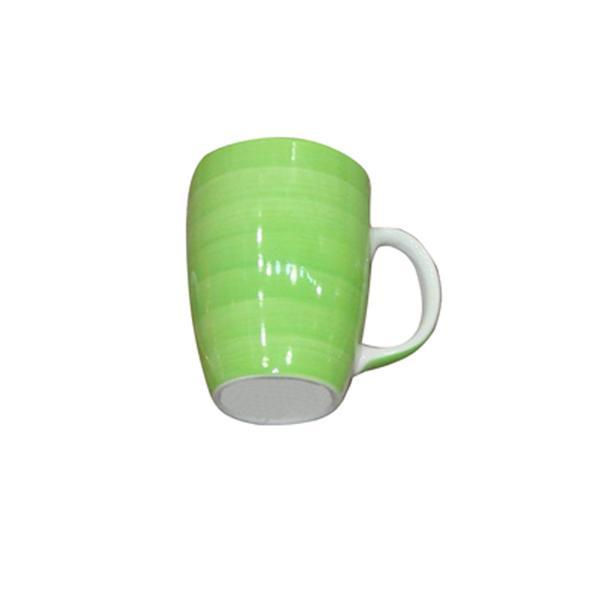 Hrnek s proužky keramika, objem 280 ml, zelený