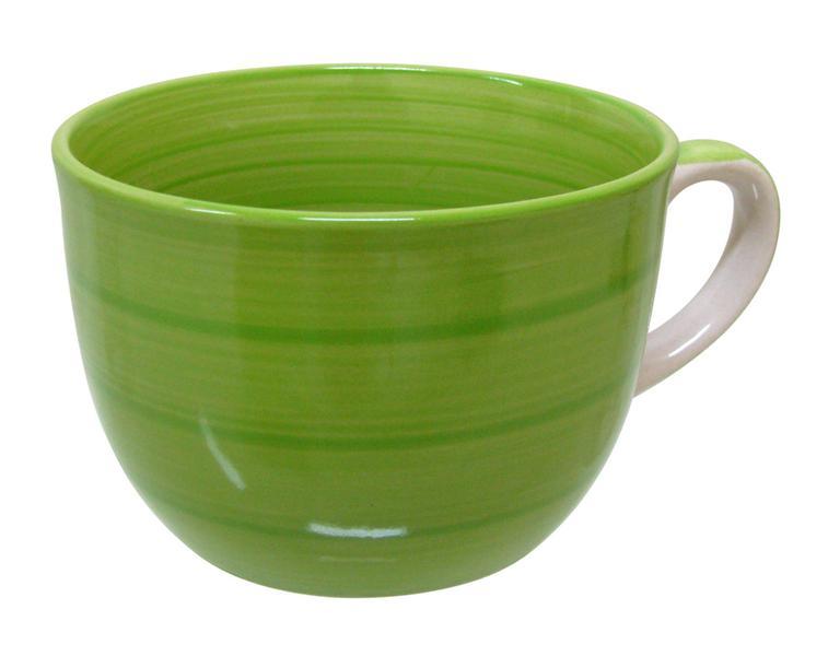 Hrnek JUMBO s proužky, objem 550 ml, zelený