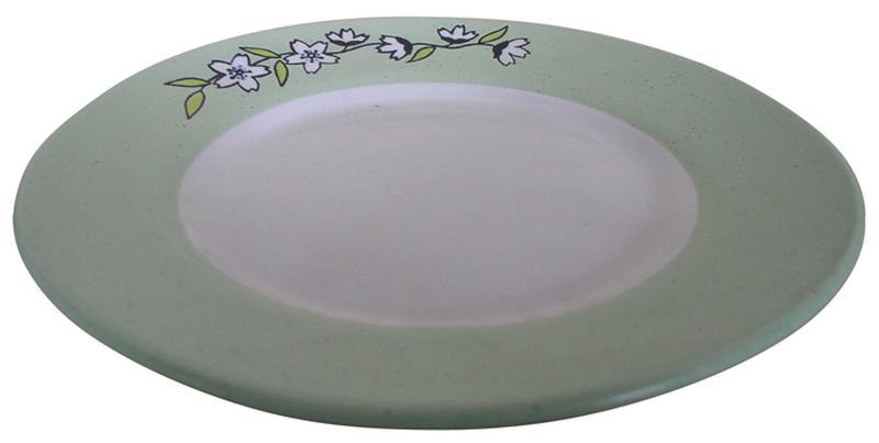 Talíř dezertní s květinou,  20 x 2, 1 cm