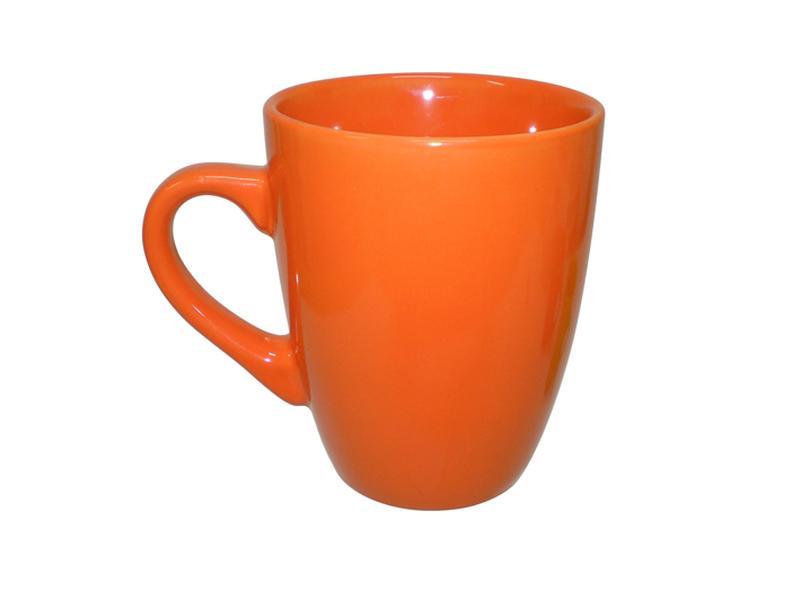 Hrnek keramika 340 ml, oranžový
