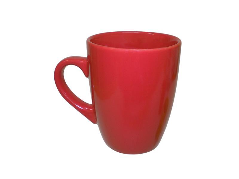 Hrnek keramika 340 ml, červený