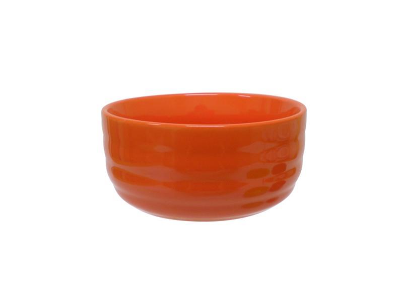 Miska objem 600 ml, keramika, oranžová