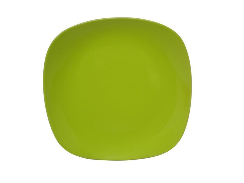 Talíř dezertní,  čtverec,  19, 5 cm, zelený