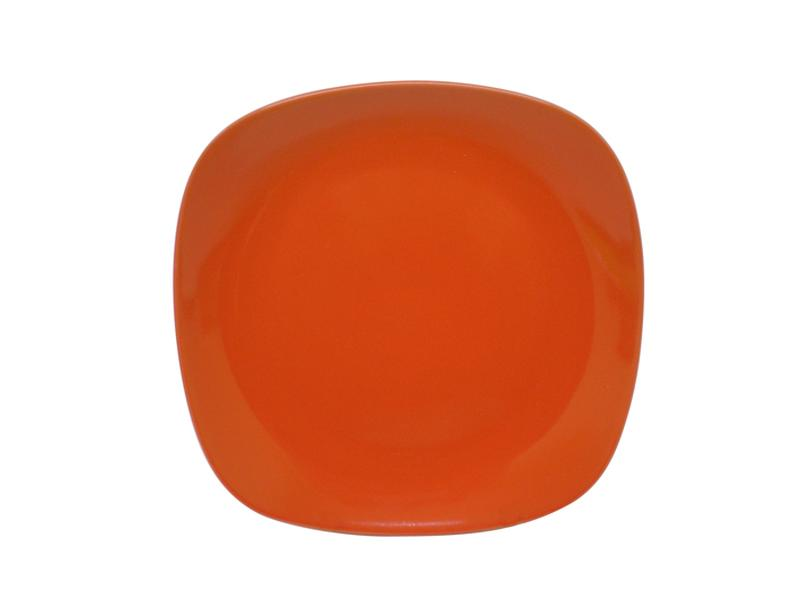 Talíř dezertní,  čtverec,  19, 5 cm, oranžový