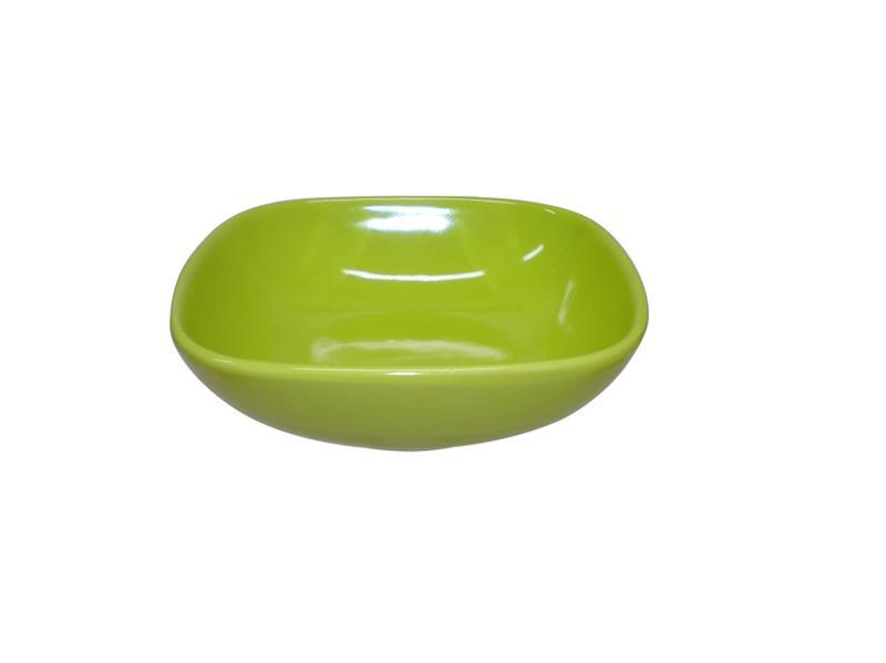 Miska polévková, čtverec, 16,6 cm, zelená