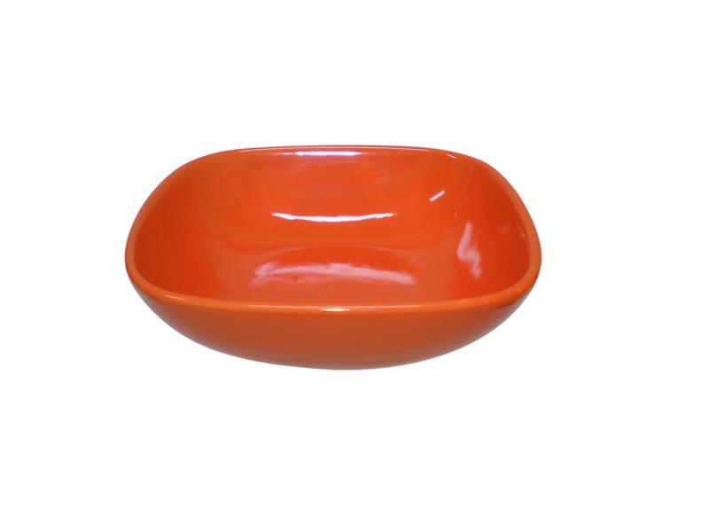Miska polévková, čtverec, 16,6 cm, oranžová