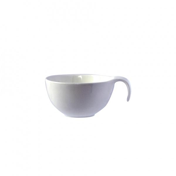 Miska porcelánová 110 ml, kulatá s uchem, bílá