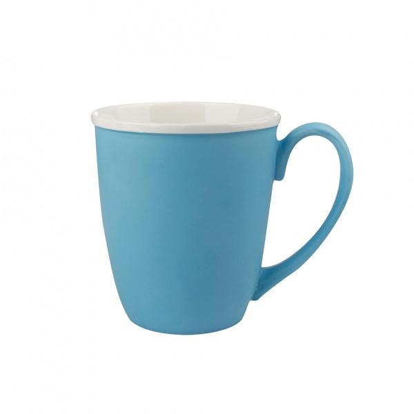 Hrnek, porcelán, modrý mat, objem 390 ml