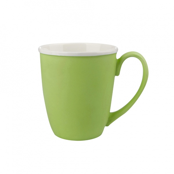 Hrnek, porcelán, zelený mat, objem 390 ml