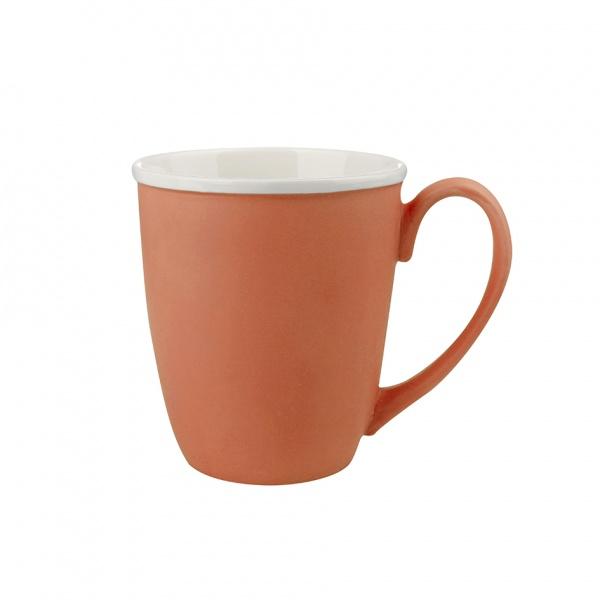 Hrnek, porcelán, oranžový mat, objem 390 ml