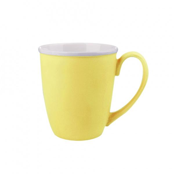 Hrnek, porcelán, žlutý mat, objem 390 ml