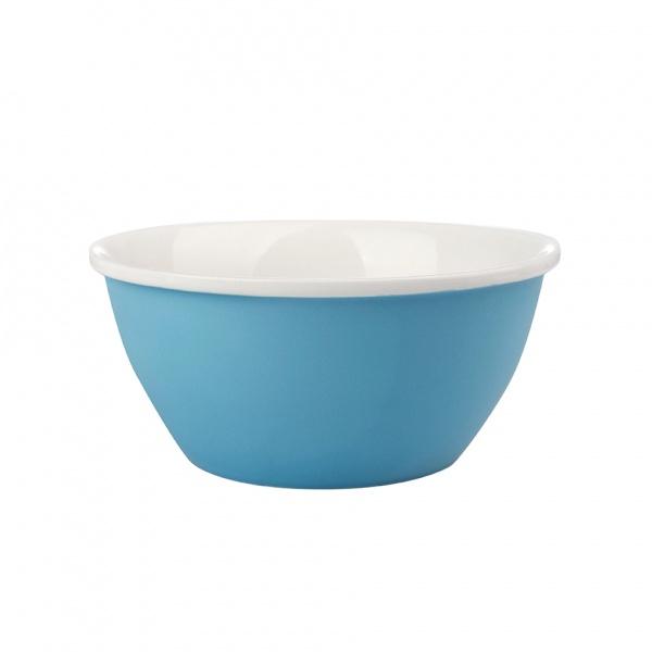 Miska servírovací, porcelán, modrý mat, 14 cm
