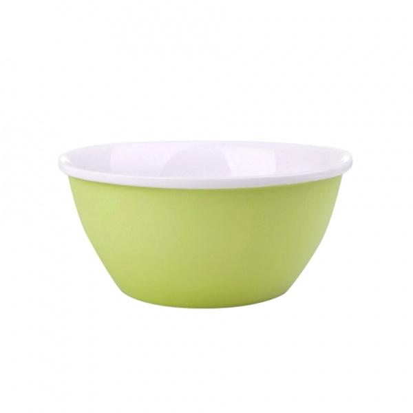 Miska servírovací, porcelán, zelený mat, 14 cm
