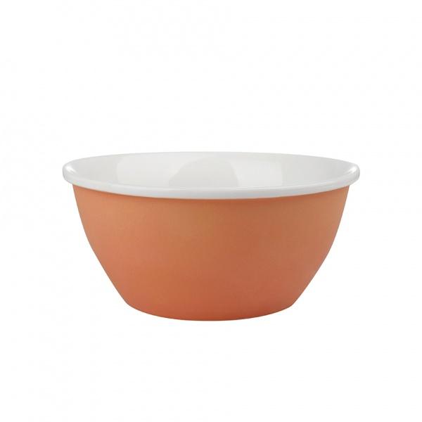 Miska servírovací, porcelán, oranžový mat, 14 cm