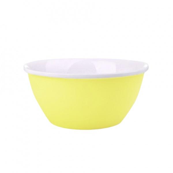 Miska servírovací, porcelán, žlutý mat, 14 cm